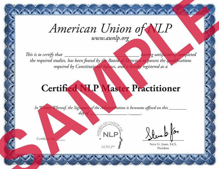 nlp master sample Certificacion en PNL por la AUNLP (R)